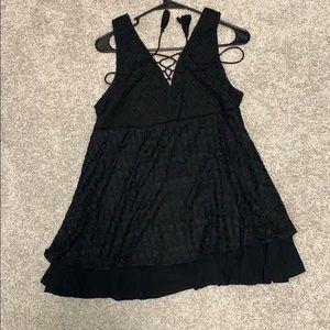 Dresses - Black lace up dress
